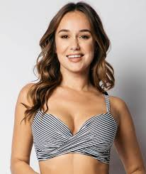 d d tuck cross front moulded d dd cup underwire bikini top sorrento