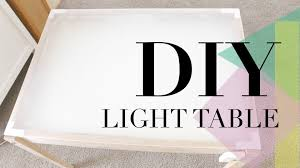 glass drafting table with light diy light table youtube