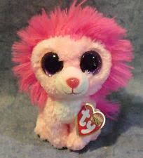 ty beanie boos fluffy pink lion ebay