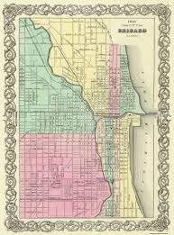 Northern Illinois Map by Old City Map Chicago Illinois 1855