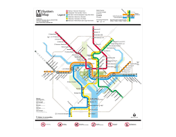 Metro Washington Dc Map by Lance Wyman