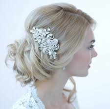 bridal hair clip rhinestone bridal hair clip wedding hair accessories silver