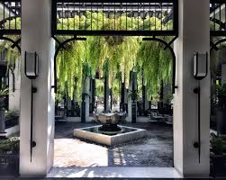 Colonial Thai Architectureblack And White With Pops Of Green - Thai style interior design