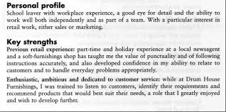 Resume Personal Profile Examples by Good Example Of Cv Personal Profile
