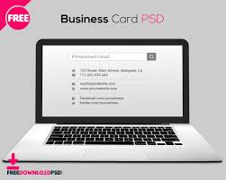 free laptop business card psd freedownloadpsd com