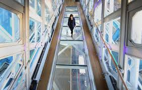 tower bridge unveils glass walkway above river thames in london