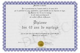 40 ans de mariage diplome des 40 ans de mariage