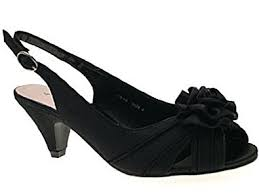 Wedding Shoes Amazon Womens Low Heel Satin Wider Fit Bridal Wedding Evening Comfort