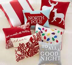 Christmas Pillows Pottery Barn To All A Good Night Pillow Pottery Barn