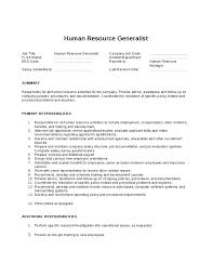 Human Resources Job Description Resume Human Resources Manager Duties Sample Human Resources Job
