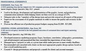 resume for graphic designer resume templates