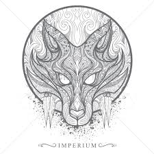 intricate wolf design vector image 1565772 stockunlimited