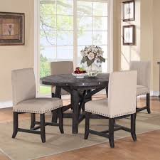 chair good looking 7 piece round dining table with splat back side