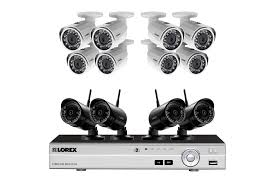 Interior Home Surveillance Cameras by Wireless Security Camera System With Monitor And 4 Outdoor Cameras