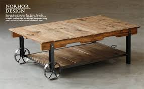 Industrial Style Coffee Table Country Old Industrial Style Wood Furniture Retro Coffee Table