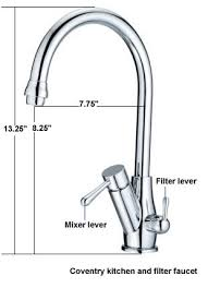 kitchen water filter faucet coventry three flow kitchen faucet with doulton water filter