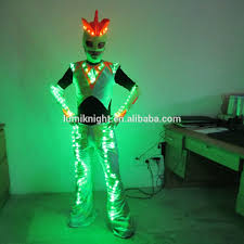 led robot costumefor performance ultraman glowing clothes light