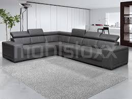 canapé d angle en cuir gris canapé d angle kamara 2 3 places éco cuir gris chez mobistoxx