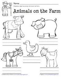 farm animal labeling worksheet great for a farm unit