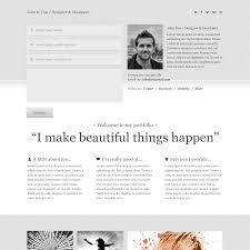 one page resumes examples portfolio resume free resume example and writing download clean psd portfolio template