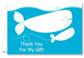 whale baby shower baby shower thank you cards whale thank you notes