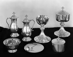 communion set florida memory silver communion set from the church of the