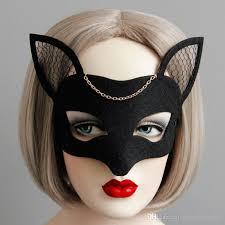 animal fox half face mask woman mask halloween host banquet