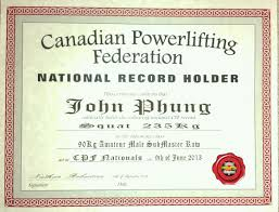 canadian powerlifting federation cpf men u0027s amateur record