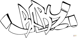 baby graffiti coloring free printable coloring pages