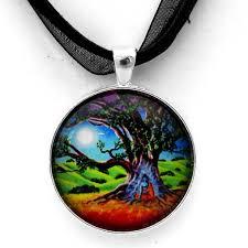 spiritual jewelry medicine buddha necklace tibetan buddhism chakra zen moon tree