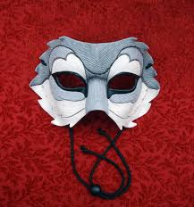 wolf masquerade mask custom half wolf leather mask made to order leather wolf mask