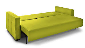 Olive Green Sofa by Batto Modern Couch Yellow Sofa Bed