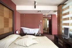 open plan bathroom and bedroom designs home design