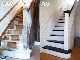 Staircase Renovation Ideas Diy Duel Staircase Restoration It S Done Staircases