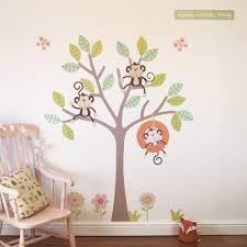cheeky monkey swing tree wall stickers parkins interiors cheeky monkey swing tree wall stickers
