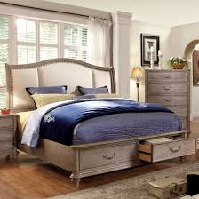 Overstock Platform Bed Furniture Of America Minka Iv Rustic Grey Storage Platform Bed