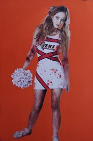 Zombie Cheerleader Teen Girls Zombie Cheerleader Costume Dress Size 11 13 Xl