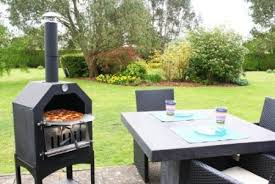 Chiminea With Pizza Oven Portable Barbecue Grills Wood Fired Outdoor Pizza Ovens For