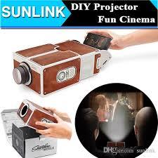 support t hone portable bureau portable simple projection equipment diy cardboard smartphone
