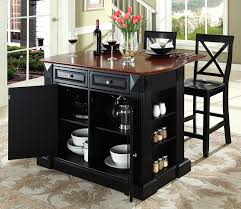 buy solid black granite top kitchen cart island in black