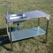 Kitchen Sink Camping Unit Folding BarbecueBBQ Tap Outdoor Garden - Camping kitchen with sink