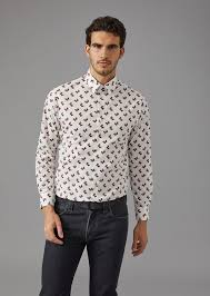 shirt pattern for dog shirt with dog pattern man giorgio armani