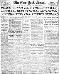 the new york times gt peace signed ends the great war germans depart still protesting