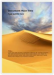 african desert word document template is one of the best word