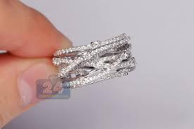 highway wedding band 14k white gold 1 25 ct diamond womens highway ring