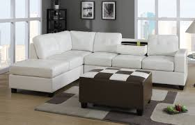 Leather Sectional With Chaise And Ottoman Extra Large Microfiber Tufted Sofa With Chaise And Ottoman