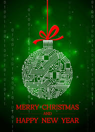 business christmas cards circuit board ornament computer business christmas card the
