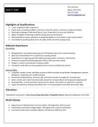 accounting graduate resume no experience resume ideas