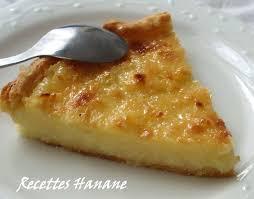 cuisine hanane tarte façon flan pâtissier à la noix de coco recettes by hanane