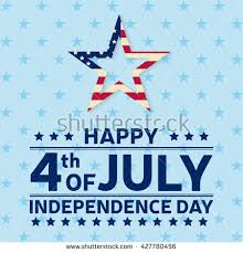 fourth july independence day greeting card stock vector 443143753